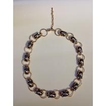 Collar Calaveras Dorado/negro Dorado/rosa Accesorio Mujer
