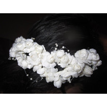 Semi Corona Flores Para Novias - 15 - Fiestas - Difraces