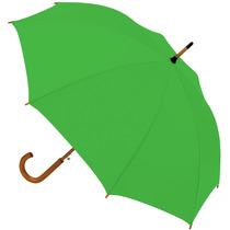 6 Paraguas Ejecutivo Mango Curvo Madera Automático 8 Gajos