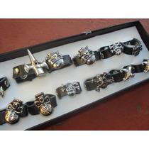 Lote De 12 Anillos Rock Dark Motoquero Todos A $ 120