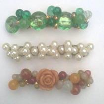 Hebillas Para El Pelo Con Perlas Y Piedras