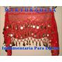 Caderín Danza Árabe Ondulado Paillette Crochet 3 Filas Moned