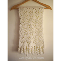 Bufanda De Lana Tejida En Crochet