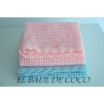 Mantita Recibidora Tejida Al Crochet