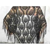 Chal Chalina Tejido Al Crochet Lana Cashmilon