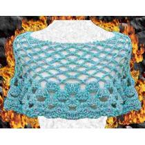 Poncho Tejido Crochet Otoño Invierno Delicado