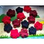Flores Dobles Al Crochet P/aplicar A Diferentes Prendas