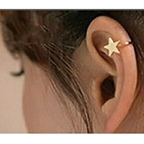 Aritos Estrella Solitarios Ajustables En Color Oro Y Plata