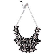 Collar Pectoral Naturaleza Geometric Glam Black Las Penelope
