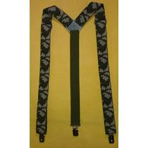 Tirador Pantalón Suspenders Pinza Madison Camuflado Verd 3cm