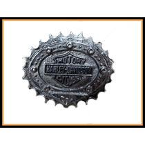 Cinto Harley Davidson ( Lonja De Cuero Y Hebilla Cambiable)