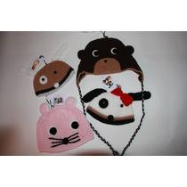 Gorro Artesanal Con Animalitos - Tejidos A Crochet