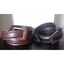 Lote De 2 Cinturones De Vestir Para Caballeros