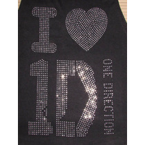 One Direction Aplique En Strass Facetadas P/pegar En Remera