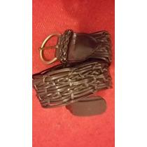 Cinturon Cinto Marron Kosiuko Tramado Estilo Cher Oreiro