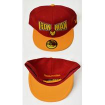 Gorra Plana Snapback- Iron Man Marvel - Coleccion New Era