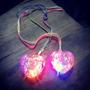 Collares Con Luz Corazón Para Nenas Souvenirs De Cumpleaños