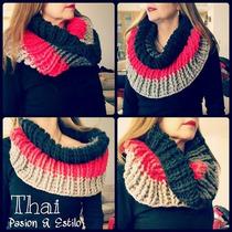 Cuello Artico Tejido Al Crochet
