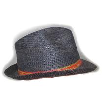 Sobrero Paja Toquilla (panama Hat) Crochet - M - 39 Cm.