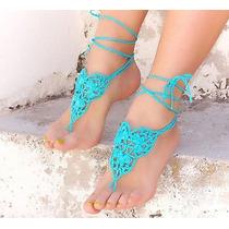 Sandalias Pie Descalzo Crochet Playa Y Arabe Varios Modelos
