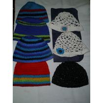 Gorros Crochet Cashmión O Hilo Nuevos