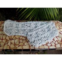 Bufanda Gris Tejida Al Crochet