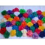 Flores De Tela Con Pico Para El Pelo O Prendedor Colores