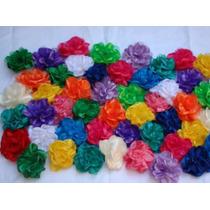 Flores De Tela Con Pico O Prendedor Hechas A Mano