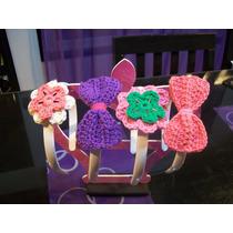 Vinchas Elásticas Y Plásticas Tejidas Al Crochet