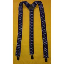 Tirador Pantalón Suspenders Pinza Madison Violeta/lun Bl 3cm
