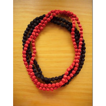 Collar De Perlas Recubiertas En Tela - Importado De India