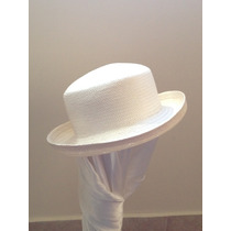 Sombrero Super Lindo!!!, Panama Hueso Made In Usa