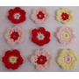 A Pedido Pack X 50 Flores Tejidas Crochet Apliques