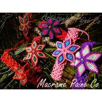 Pulsera Macramé Flor (artesanal!)