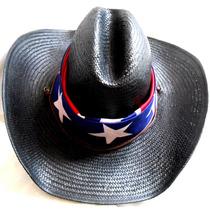 Sombrero De Palma Cowboy Texano Con Pañuelo Y Pasapañuelo