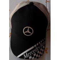Mercedes Benz Gorra Logo Cuadros En Visera