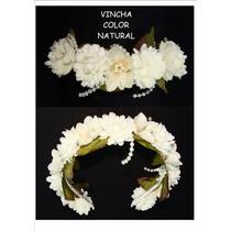Vincha Con Flores Prefabricadas, Comunion, Casamiento, Etc