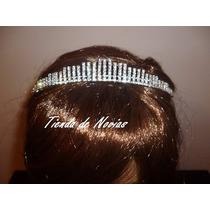 Tiara Corona Plateada Vestido De Novias 15 Años Cortejo Boda