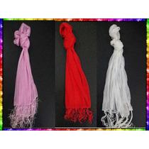 Pañuelo Chalina Lisa Blanca Rosa Roja Ideal Regalos Cumple