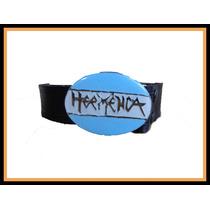 Cinturon Heavy ( Lonja De Cuero Y Hebilla Cambiable)