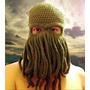 Gorro Cthulhu Y Vikingo Tejido Al Crochet