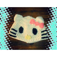 Gorro Tejido Hello Kitty Crochet