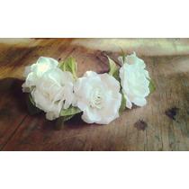 Vincha Novias Flores Blancas Tiara Tocado Rosas Corona 2015