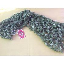 Bufanda De Lana Bouclé Crochet