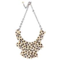 Collar Pectoral Naturaleza Geo Glam White Las Penelope