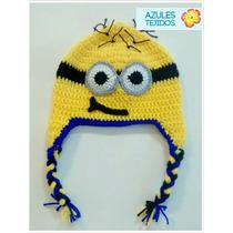 Gorro Crochet Cubre Orejas Personajes Niños