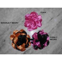 Flores De Raso Como Prendedor O Para Cintos!!!