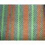 Bufanda Artesanal Tejida En Telar Hombre Mujer Verde Naranja