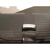 Billetera Con Espejo - Marca Avon - Color Marron
