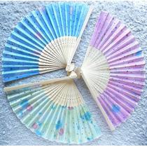 Abanicos Color Pastel Tela Gasa Souvenir Boda Casamiento 15